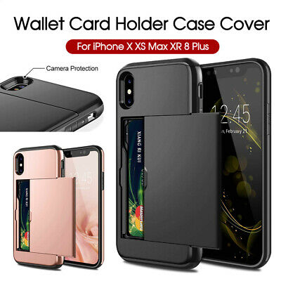 AU5.99 • Buy Holder Case Cover MC Wallet Card For IPhone XS Max X XR IPhone 8 8 Plus