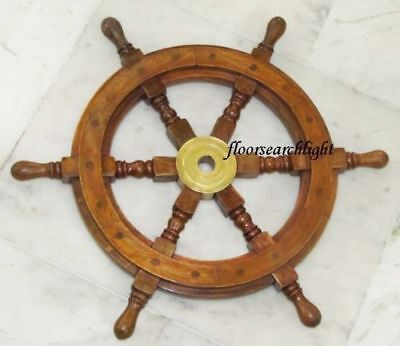 Nautical Home Decor 18  Boat Steering Ships Wheel - Pirate Captain Ship Wheel • 40.49£