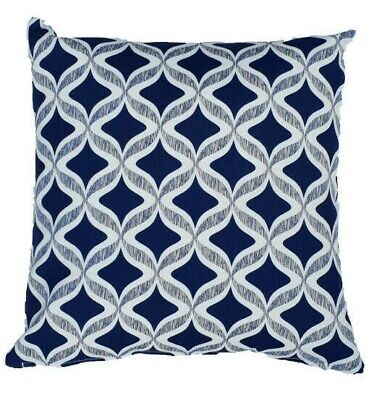AU44.99 • Buy Blue Diamond Hamptons Style Indoor/Outdoor Cushion Cover (Australian Made)