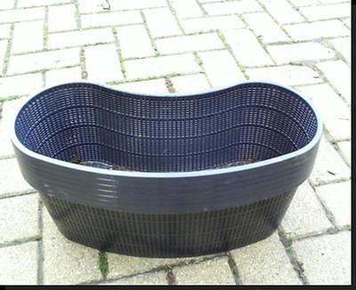 2 Large New Kidney Shaped Plastic Aquatic Pond Pots Baskets For Water Plants  • 8.95£
