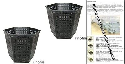 2 X 3L Hexagon Plastic Aquatic Pots Baskets For Water Plants And Pond & Guide  • 8.95£