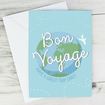 -:- Bon Voyage -:- PERSONALISED CARD - Travelling, Emigrating... • 3.99£