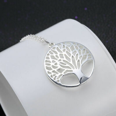 Real 925 Stamped Sterling Silver Tree Of Life Pendant With 18  Necklace Chain UK • 3.89£