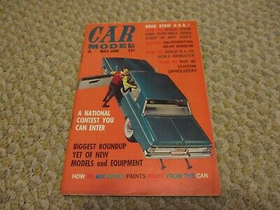 Car Model Magazine May-June 1963 Volume 1 Number 6 Excellent Condition • 9.99$