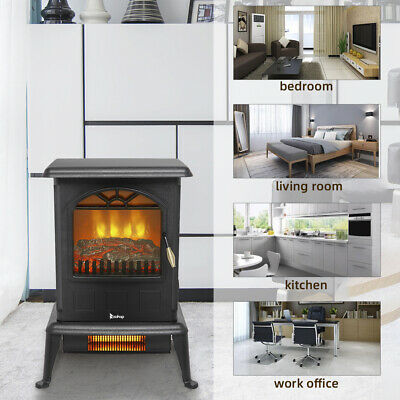 $69.11 • Buy Infrared Heater Fireplace Electric Heater Stove Quartz Space 1000W/1500W Adjust