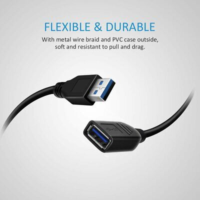 AU4.10 • Buy USB 3.0 Extension Cable Cord USB 3.0 Type A Male To Female Extender Cord 1.5M OZ