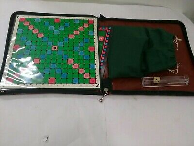 Vintage  TRAVEL SCRABBLE  In Padded Zip Case. By Spears Games 1988. Complete. • 10£