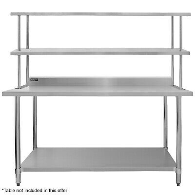 Commercial Kitchen Prep Shelf Stainless Steel Double Overshelf Catering 1800mm • 153.99£