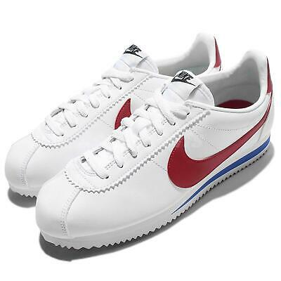 AU96.59 • Buy Wmns Nike Classic Cortez Leather OG Forrest Gum White Red Women Shoes 807471-103