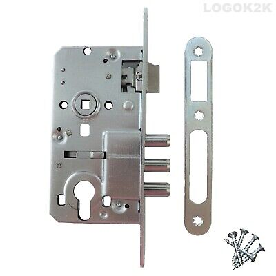 3 BOLT MORTICE SASH LOCK CtoC 72mm For Handle And Euro Lock Cylinder • 10.99£