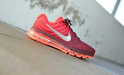 $104.99 • Buy Mens Nike Air Max 2017 Sneakers New, Gym Red / Burgundy 849559-601 New In Box