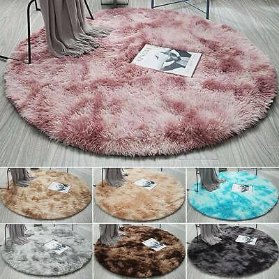 AU26.59 • Buy Round Circle Non-slip Floor Small Rug Living Room Bedroom Soft Carpet Fluffy Mat