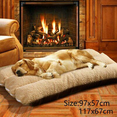 Soft Warm Dog Beds Large Washable Pet Kennel Mat Puppy Cushion Blanket Nest UK • 14.99£