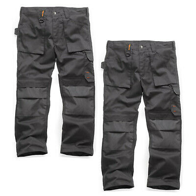 Scruffs TWIN PACK Worker Multi Pocket Trousers Graphite Grey (Various Sizes) • 43.95£