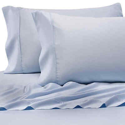 Pure Beech 100% Modal Sateen King Sheet Set In Light Blue • 107.99$