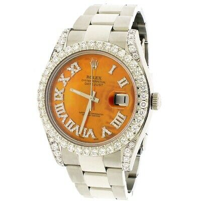 $ CDN15649.64 • Buy Rolex Datejust II Steel 41mm Diamond Bezel/Lugs/MOP Roman Dial 116300 Box Papers