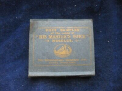 40006 Old Antique Vintage Gramophone Needle Tin Box Record Player Empty HMV • 4.80£