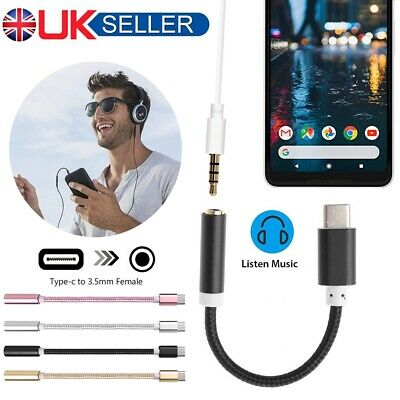 USB-C Type C Male To 3.5mm Audio Female Aux Headphone Jack Cable Music Adapter • 2.59£