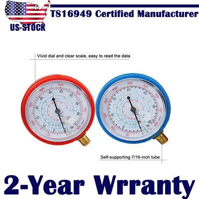 $ CDN16.54 • Buy Air Conditioner Low And High Pressure Gauge R410A R134A R22 Refrigerant PSI USA