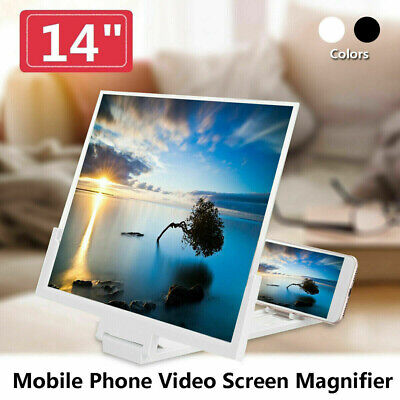 $10.49 • Buy 14 Inch Smartphone Screen Magnifier 3D Video Cell Phone Amplifier Stand Bracket