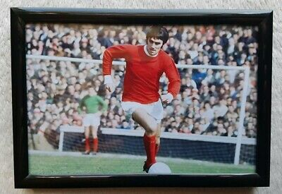 George Best/Man United/F.C.(Photo/Picture/Framed/Birthday/Fan/Gift/Memento).🎁.  • 13.95£
