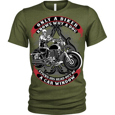 £8.95 • Buy Only A Biker T-Shirt Funny Motorcycle Motorbike Unisex Mens