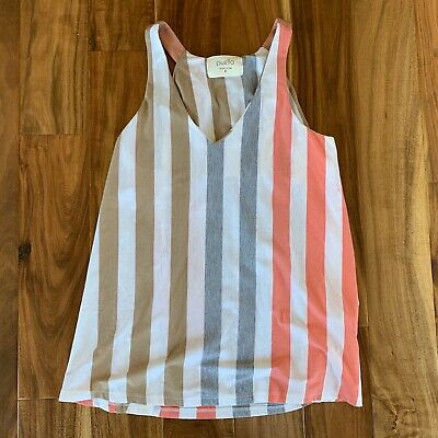$ CDN26.91 • Buy Anthropologie Puella Small North South Swing Tunic Striped Tank Top Blouse