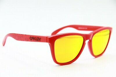 $59.40 • Buy New Oakley Oo9013-48 Red Frogskins Mirrored Sunglasses Authentic Frames 55-17