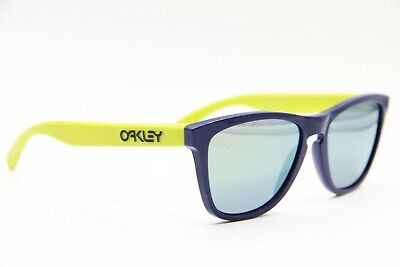 $65.40 • Buy Oakley Oo 24-360 Blue Green Frogskins Mirrored Sunglasses Authentic Frames 55-17