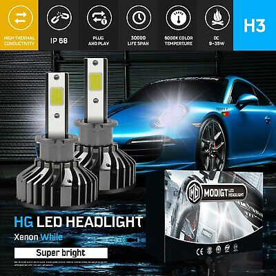 AU25.99 • Buy H3 1080W 144000LM LED Car Headlight Conversion Globes Bulb Kit Driving Fog Light