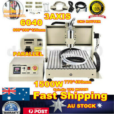 AU1224 • Buy 3 Axis 1.5kw Cnc 6040 Router Engraver Engraving Cutter Machine Carving + Remote