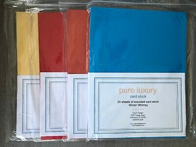 $16.95 • Buy Gina K. Designs Pure Luxury Card Stock Lot Of 4 Packs More Than 70 Sheets 8.5x11
