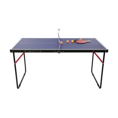 AU109 • Buy Brand New Portable Mini Table Tennis Table Foldable Type Includes Bats Net Posts