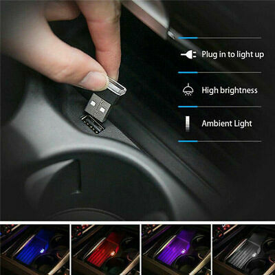 $0.99 • Buy Mini USB Colorful LED Night Light Car Auto Interior Neon Atmosphere Ambient Lamp
