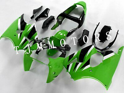 $499.99 • Buy For ZX6R 00-02/ZZR600 05-08 ABS Injection Mold Bodywork Fairing Kit Black Green