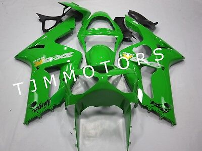 $499.99 • Buy For KAWASAKI ZX6R 636 2003 2004 ABS Injection Mold Bodywork Fairing Kit Green