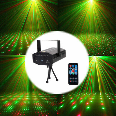 Mini Laser Projector Stage Lights LED R&G Lighting Xmas Party KTV DJ Disco Lamp • 12.95$