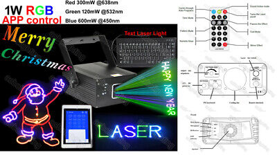 AU510 • Buy 1W 15KPPS Keyboard Words RGB Laser Stage Lighting Party DJ Dsico Club Bar Lights