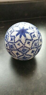 Blue White Pottery Ball Sphere Mask Gel Present Gift Idea Collectable  • 9.99£