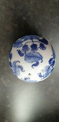Blue White Pottery Ball Sphere Mask Birthday Gel Present Gift Idea Collectable  • 9.99£