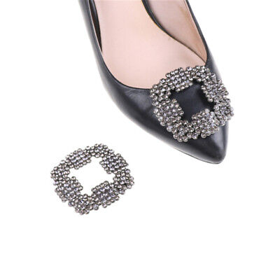 Alloy Rhinestones Crystal Shoe Clips Women Bridal Prom Shoes Buckle Decor Zv • 2.36£