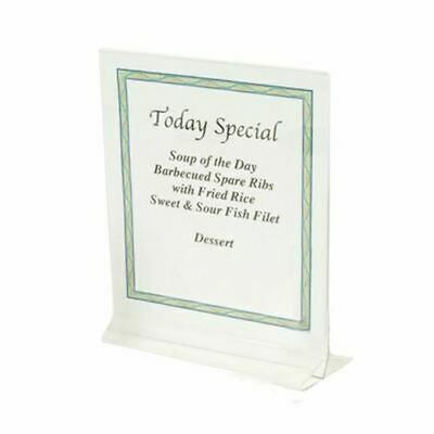 $21.99 • Buy 8 1/2  X 11  Clear Acrylic Plastic Table Card Menu Paper Holder Display Stand