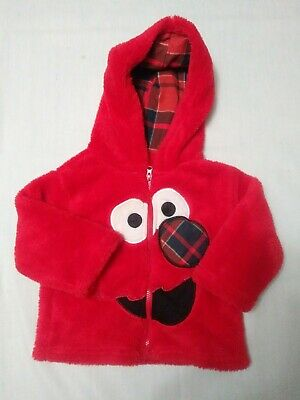 $11.12 • Buy Disney's Elmo Baby Size 12 Months Red Hoodie