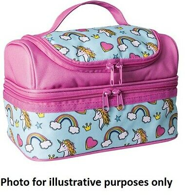 $ CDN93.40 • Buy Avanti YUM YUM DOUBLE DECKER LUNCH BAG 23.5x15.5x18cm Zipper Openings UNICORNS