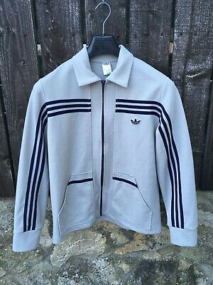Vintage Adidas 'Club' Track Top Made In West Germany Medium Grey Blue OG Schwahn • 99.99£