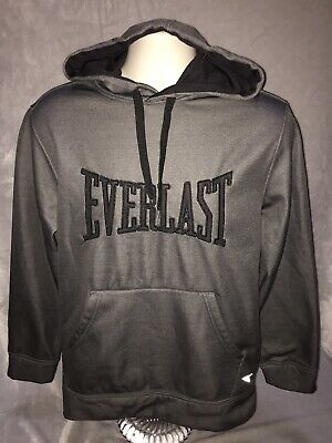 $25.99 • Buy Everlast Mens Med Dark Gray Satin Fleece Boxing Pullover Hoodie Sweatshirt Used