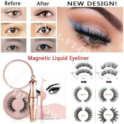 AU14.98 • Buy Magnetic Liquid Eyeliner With False Eyelashes Reusable Eye Lashes Tweezers Sets