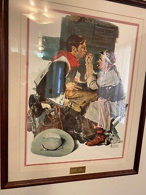 $ CDN281.97 • Buy Norman Rockwell Limited Edition Print The Texan With Certificate Of Authenticity