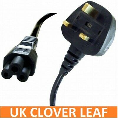 C5 Cloverleaf 3 Pin Mains Cable Clover Leaf Power Lead Power Cord For Uk • 3.75£