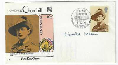£43.88 • Buy Harold Wilson Signed First Day Cover FDC / Autographed Prime Minister